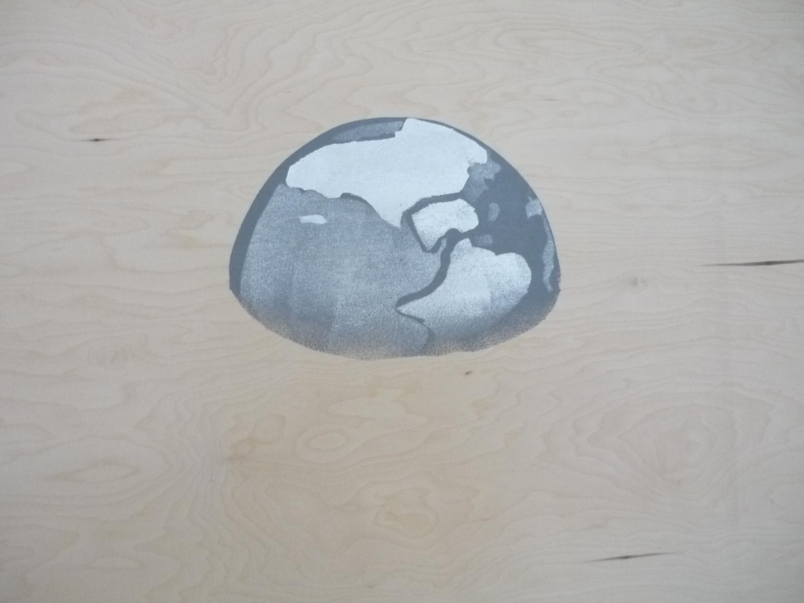Erde gesehen vom Mond - Erdaufgang